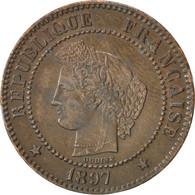 IIIème République, 2 Centimes Cérès, 1897 A, Paris, Gadoury 105 - B. 2 Centimes