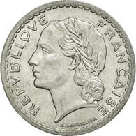 Monnaie, France, Lavrillier, 5 Francs, 1945, Beaumont Le Roger, TTB+, Aluminium - France