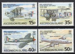 ASCENSION. 1998 RAF 80th ANNIVERSARY SET MNH. - Ascensione