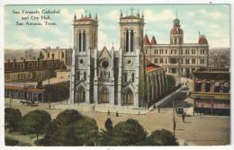 San Fernando Cathedral And City Hall, San Antonio, Texas - San Antonio