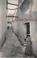 ALGERIE -  TLEMCEN - Vieille Rue Du Quartier Arabe - Dos Vierge - 2 Scans - Tlemcen