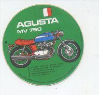 MOTO ITALIENNE AGUSTA MV 750 - Autocollants