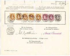 Schweiz Bordereau Postverwaltung Porrentruy 30.9.1898 Mit  6 X 3Fr, 2 X 1Fr. Und 40Rp. Stehende Helvetia - 1882-1906 Armoiries, Helvetia Debout & UPU