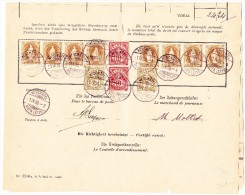 Schweiz Bordereau Postverwaltung Neuchatel 1.4.1898 Mit  8 X 3Fr Stehende Helvetia 2 Je WZ 10Rp. U. 2 Rp. - 1882-1906 Armoiries, Helvetia Debout & UPU