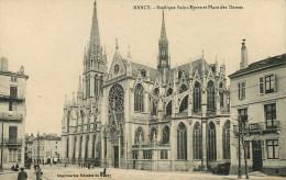 Santé - Cachets - Cachet Hopital Sedillot Nancy - Basilique Saint Epvre Et Place Des Dames - 2 Scans - état - Salute