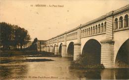 Santé - Cachets - Cachet Hopital Complémentaire N° 50 - Collège De Jeunes Filles Béziers - Le Pont Canal - 2 Scans - Salute