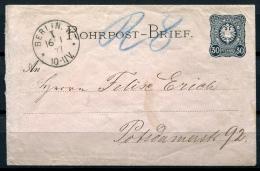 19622) DEUTSCHES REICH Rohrpostbrief # 1 - Deutschland