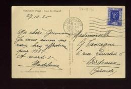 - FRANCE 1931/40 . AFFRANCHISSEMENT SIMPLE AVEC TIMBRE EXPO INTERNATIONALE N°324  Y&T. SUR CP DE 1936 . - Covers & Documents