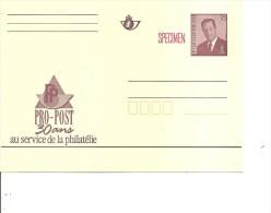 """Belgique ( EP Au Type """"Albert Ii""""à 16 Francs Avec Surcharge """"SPECIMEN"""" à Voir) - Stamped Stationery"""