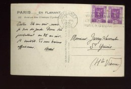 - FRANCE 1931/40 . AFFRANCHISSEMENT COMPOSE AVEC TIMBRES EXPO INTERNATIONALE N°322  Y&T. SUR CP DE 1936 . - France