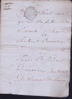 PARIS GEN MR DESCHAMPS LETTRE DE 1768 DE 11 RECTOS VERSOS - Other Collections