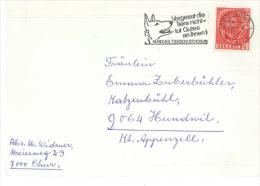 7000 Chur Vergesst Die Tiere Nicht - Tut Gutes An Ihnen! Bündner Tierschutzverein Europa 1965 Briefstück - Schweiz