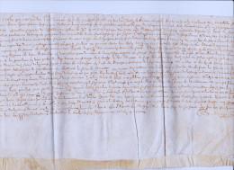 LETTRE DE 1636  TIMBRE ROYAL LETTRE 1    RECTO VERSO