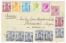 Monaco - Ganzsache Mit Zusatzfrankatur 19.3.1926 Monaco Nach Boniswil AG - Monaco