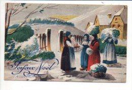 Noël / Joyeux,Heureux Ou Bon  Noël - Paysage,neige -  Dessin Ou Illustrateur à Identifier - Ohne Zuordnung