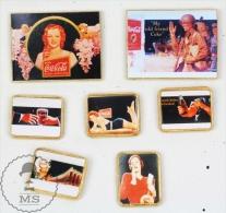 7 Coca Cola Vintage & Pin Up Ladies Advertising - Pin Badge #PLS - Coca-Cola