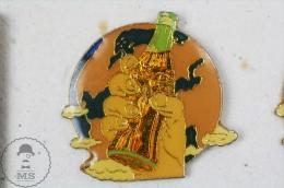 Hand With Coca Cola Bottle & Earth Globe Pin Badge  - Pin Badge #PLS - Coca-Cola