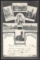 SLUIS Groeten Uit 7-luik 1906 - Sluis
