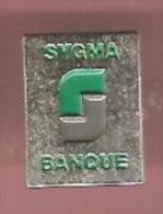43810-Pin's-Banque.assurance.Sygma.signé Sap 47. - Banks