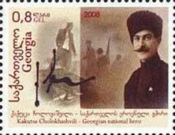 Georgia 2009 National Hero Cholokhashvili 1v MNH - Georgia