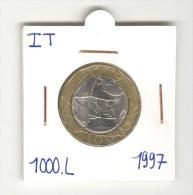 1000 Lires Italie / Italy  - Bi-métallique / Bimetalic 1997 - 1 000 Lire