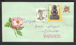 PAKISTAN Postal History Cover, Fasting Buddha Gandhara Civilization ERROR Perforation Shifted To Left Down, Used On 15-2 - Pakistan