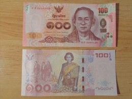 TAILANDIA  /   THAILAND   100  BATH  2015   2.015    SC/UNC/PLANCHA    T-DL-11.307 - Tailandia