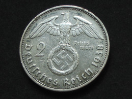2 Deutches Reichsmark 1938 G - Allemagne - Third Reich **** EN ACHAT IMMEDIAT **** - 2 Reichsmark
