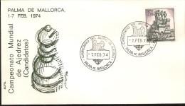 PALMA DE MALLORCA SPD CAMPEONATO MUNDIAL DE AJEDREZ DEL AÑO 1974 (CHESS) - FDC