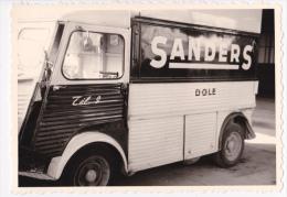 """Photo 8.5 X 12.2 - Tube Citroên Surélevé """"Publicité """"Sanders"""" Dole, Tél 9, Vue Latérale Gauche - Automobiles"""