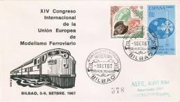 BILBAO SPD XIV CONGRESO DE MODELISMO FERROVIARIO DEL AÑO 1967 (TREN-TRAIN-ZUG) - Trenes