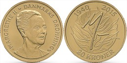 "DINAMARCA  20  CORONAS  2015   2.015   ""75 Cumpleaños De La Reina MARGARITA II""  UNC  T-DL-11.308 - Dinamarca"