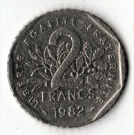 FRANCE  -  2 Francs 1982  (26) - France
