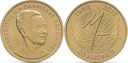 """DANMARK  20  CORONAS  2015   2.015   """"75 Th Birthday Of Queen MARGARITA II""""  UNC  T-DL-11.308 - Denmark"""