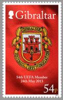 Gibraltar 2013 Mih. 1546 Football. 54th Member Of UEFA MNH ** - Gibraltar