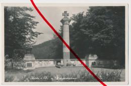 Original Foto - Ca. 1940 - Kriegerdenkmal - Haida Bei Reichenberg Böhmen - Bahnpoststempel Leipa - Liberec - Nový Bor - Sudeten