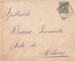 Milano Ferrovia. 1892. Annullo Tondo Riquadrato. - 1900-44 Victor Emmanuel III