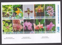 Privatpost - RPV Briefservice - Blumen - Orchideen - Kleinbogen Mit 10 Marken - Orchideen