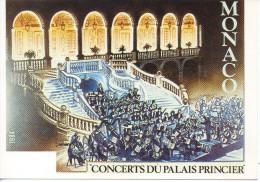 CP - MONACO - CONCERTS DU PALAIS PRINCIER - 1984  - CEF - Monaco