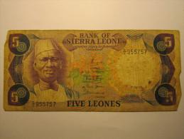 Billet - SIERRA LEONE - 5 Leones Du 01 07 1978 - Sierra Leone