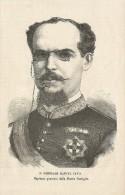 Spagna, Nuova Castiglia 1874, Il Capitano Generale Manuel Pavia, Litografia Cm. 13 X 20. - Documentos Históricos