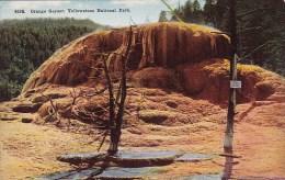 Wyoming Yellowstone National Park Orange Geyser