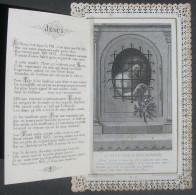 IMAGE PIEUSE CANIVET Ouvrant Fin XIXème : LA PETITE FLEUR DU DIVIN PRISONNIER / HOLY CARD / SANTINO - Images Religieuses