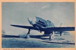 """03326 """"R. AERONAUTICA - MACCHI 202, PRONTO A SPAZIARE NEI CIELI"""" II GUERRA MOND. ILLUSTR. ORIG. - Aviazione"""