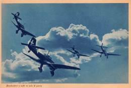 "03328 ""R. AERONAUTICA -  BOMBARDIERI A TUFFO IN VOLO DI GUERRA"" II GUERRA MOND. ILLUSTR. ORIG. - Aviation"