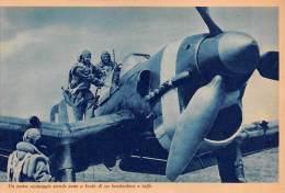 "03329 ""R. AERONAUTICA -  UN NOSTRO EQUIPAGGIO PRENDE POSTO A BORDO DI UN BOMBARDIERE..."" II GUERRA MOND. ILLUSTR. ORIG. - Aviación"