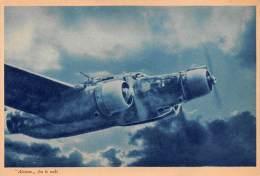 """03330 """"REGIA AERONAUTICA -  ALCIONE FRA LE NUBI"""" II GUERRA MOND. ILLUSTR. ORIG. - Aviazione"""