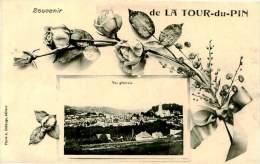 Belle  CPA   -   Souvenir De  La Tour Du Pin  ,vue Générale              E66 - La Tour-du-Pin