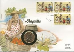 Anguilla 1985 Numisbrief Mit 2 Pence 1981 (G7362) - Anguilla (1968-...)
