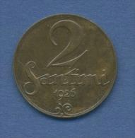 Lettland 2 Santimi 1926 Staatswappen KM 2 (m1078) - Lettland